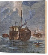 British Prison Ship Wood Print