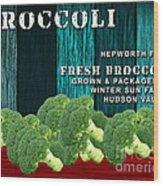 Broccoli Farm Wood Print