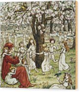 Browning: Pied Piper Wood Print