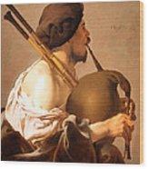 Brugghen's Bagpiper Player Wood Print