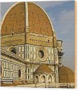 Brunelleschi's Dome At The Florence Cathedral  Wood Print