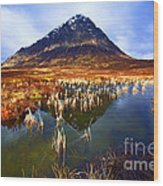 Buachaille Etive Mor Scotland Wood Print by Craig B