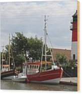 Buesum Lighthouse - North Sea - Germany Wood Print