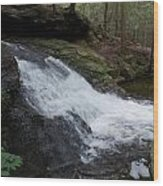 Buffam Falls Lower Cascade Wood Print
