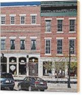Buildings Along A Street, Thomaston Wood Print