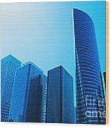 Business Skyscrapers Wood Print