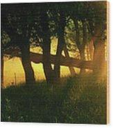 Cades Cove Sunrise Wood Print