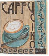 Cafe Nouveau 1 Wood Print by Debbie DeWitt