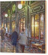 Caffe Florian Arcade Wood Print