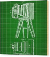 Camera Patent 1885 - Green Wood Print