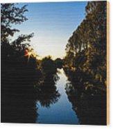 Canal Sunset Wood Print
