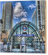 Canary Wharf Station Wood Print