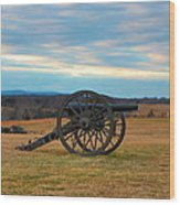Cannons Of Manassas Battlefield Wood Print
