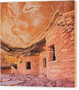 Canyon Ruins Wood Print
