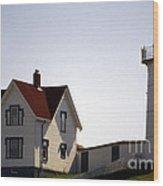 Cape Neddick Lighthouse Wood Print by Skip Willits