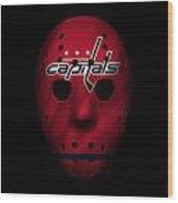 Capitals Jersey Mask Wood Print
