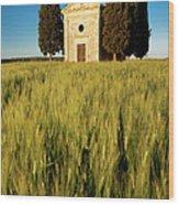 Cappella Di Vitaleta Wood Print