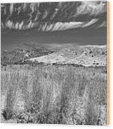 Capricious Clouds In The Volcanic Planet Wood Print
