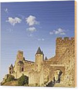 Carcassonne Languedoc-roussillon France Wood Print by Colin and Linda McKie