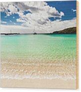 Caribbean Beach Wood Print