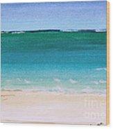 Ocean Turquoise Waters Wood Print