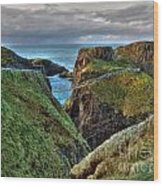 Carrick-a-rede Rope Bridge Wood Print