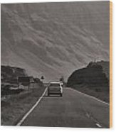 Cars And Other Vehicles On A Road In The Scottish Highlands Wood Print