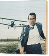 Cary Grant In North By Northwest  Wood Print by Silver Screen