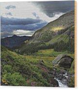 Cascade In Lower Ice Lake Basin Wood Print