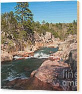 Castor River Shut Ins Wood Print