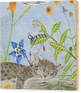 Cat And Mouse Wood Print by Gerald Strine
