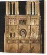 Cathedral Of Notre Dam Wood Print