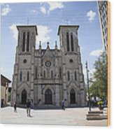 Cathedral Of San Fernando Wood Print