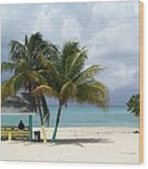 Cayman Beach Wood Print