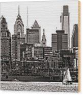 Center City Philadelphia Wood Print