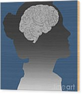 Cerebral Activity In Woman Wood Print