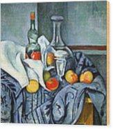 Cezanne's The Peppermint Bottle Wood Print