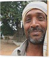 Chanderi Man Wood Print