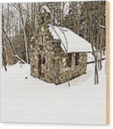 Chapel In The Woods Stowe Vermont Wood Print