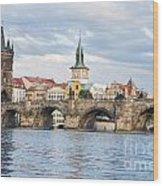 Charles Bridge In  Prague Wood Print