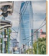 Charlotte North Carolina Light Rail Transportation Moving System Wood Print