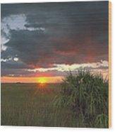 Chekili Sunset Wood Print