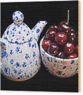Cherries Invited To Tea Wood Print