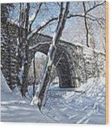 Cheshire Railroad Bridge Wood Print