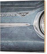 Chevrolet Corvair Emblem Wood Print