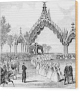 Chicago Lincoln Funeral Wood Print