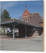 Chicago Rock Island Pacific Railway Depot Wood Print