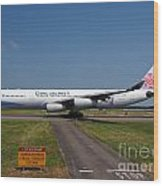 China Airlines Airbus A340 Wood Print