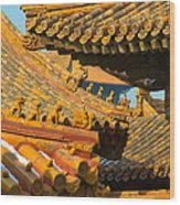 China Forbidden City Roof Decoration Wood Print