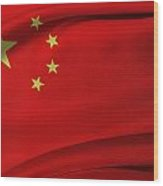 Chinese Flag Wood Print